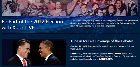 PSA Watch tonight's presidential debate on Xbox Live