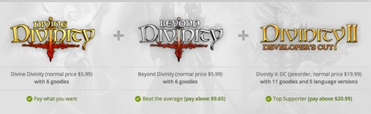 Pay what you want for Divinity games on GOG