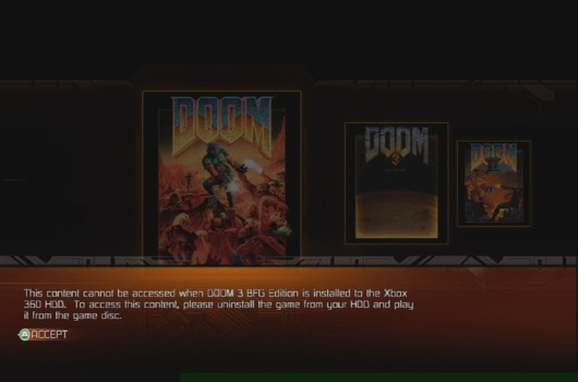 PSA don't install Doom 3 on Xbox 360 if you want to play Doom 1 & 2