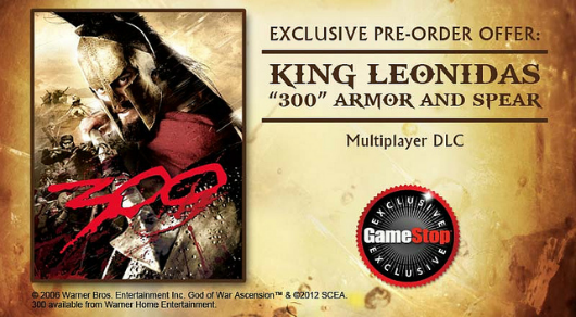 GameStop's God of War Ascension preorder bonus is '300' DLC