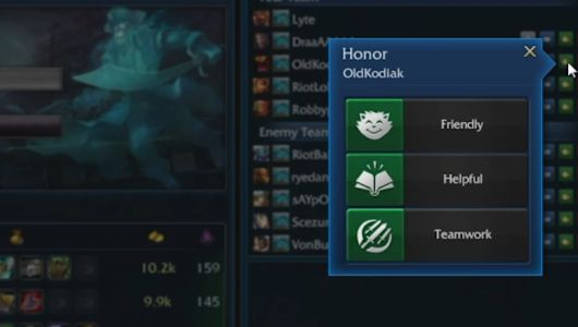 League of Legends 'Honor' system is now live