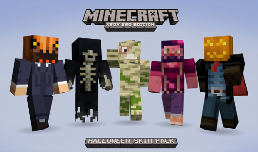 Spooky Minecraft XBLA Halloween skins, proceeds to go charity