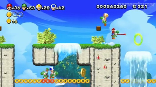 New Super Mario Bros U coop trailer
