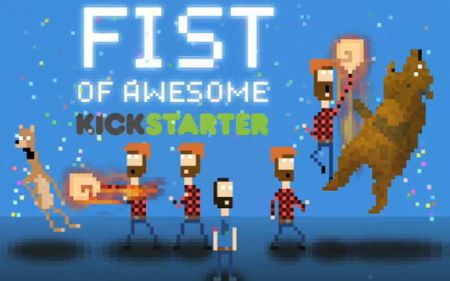 'Fist of Awesome' is about a timetravelling lumberjack that punches bears