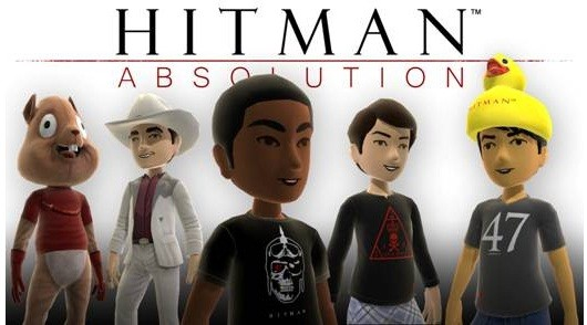 Hitman Absolution XBLM avatar items are squeakyclean