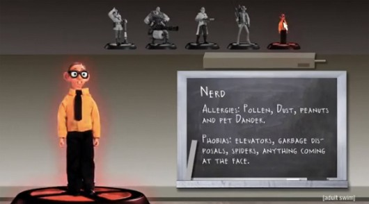 Robot Chicken introduces the 'Nerd' class in Team Fortress 2