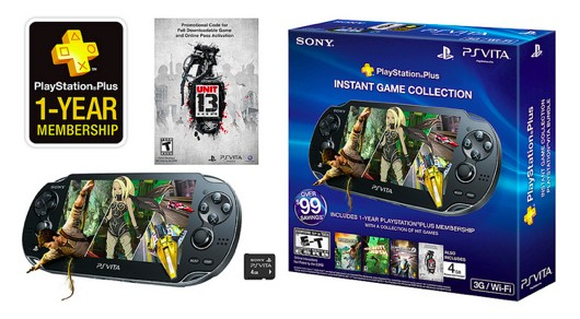 Vita bundle includes a year of PlayStation Plus, Unit 13 for $300