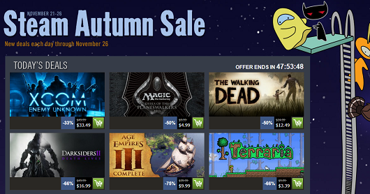Steam Autumn Sale is live