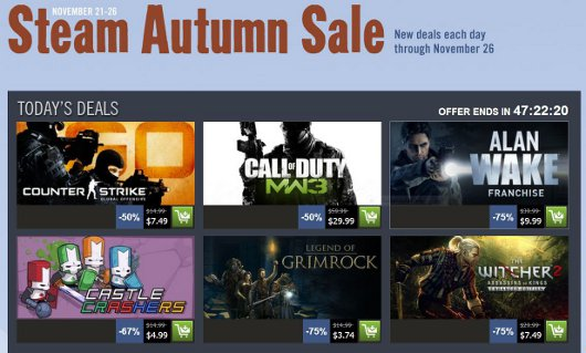 Steam Autumn Sale wraps up with Alan Wake, Grimrock, Witcher 2 and more