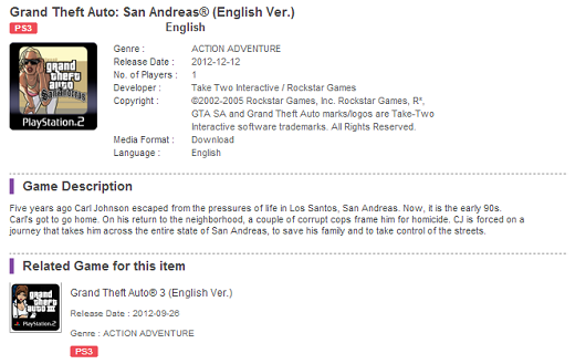 GTA San Andreas gets Dec 12  PSN launch date from PS Hong Kong