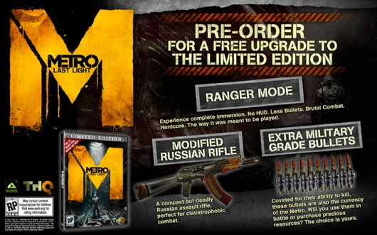 Metro Last Light launch copies include Ranger Mode as 'Limited Edition'