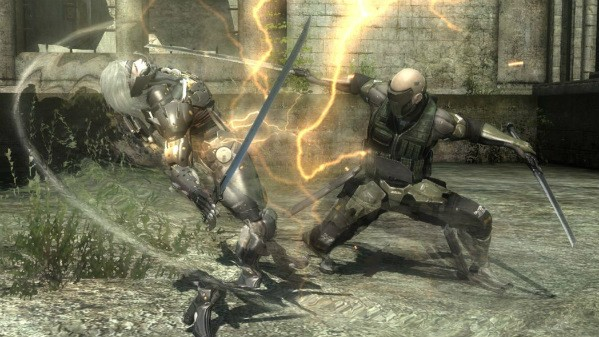 Solid slicing action in Metal Gear Rising Revengeance