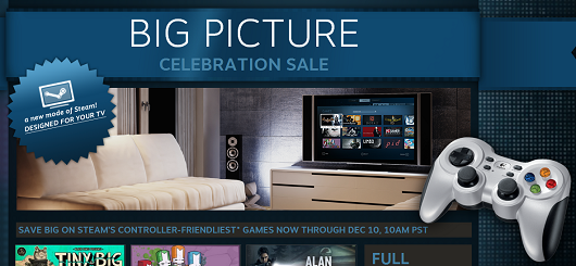 Steam Big Picture is live, weeklong sale on controllerfriendly games