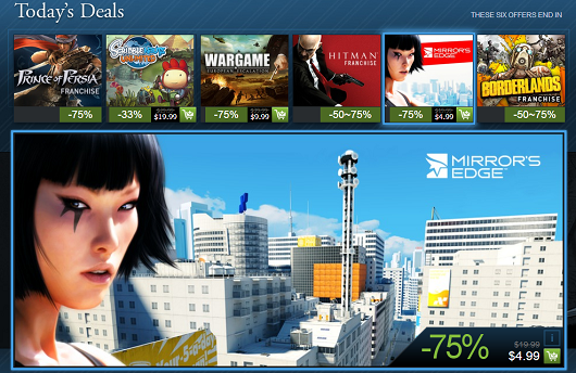 Steam Holiday Sale is live Mirror's Edge, Borderlands and Hitman series, more