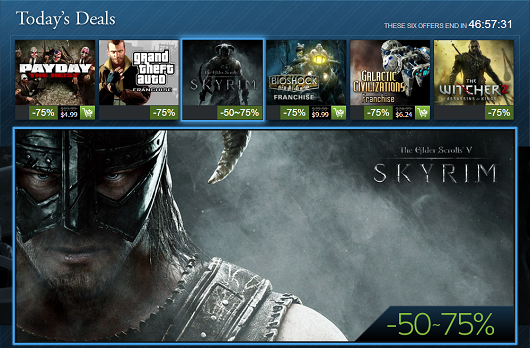 Steam Holiday Sale, day 10 Skyrim, BioShock, Grand Theft Auto franchise sales and more