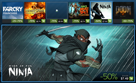 Steam Holiday Sale day 11 Mark of the Ninja, Far Cry series, Orcs Must Die, Dooms