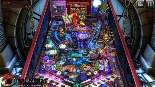 Zen Pinball HD loaded into the Android chute