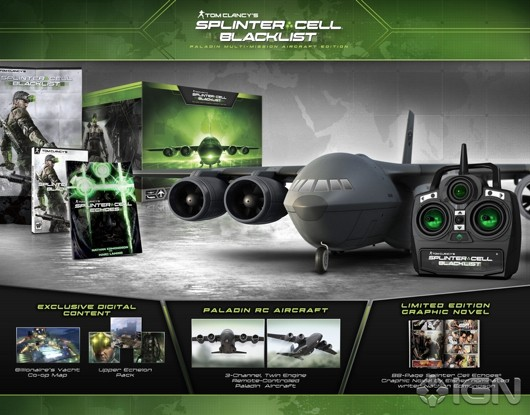 Splinter Cell Blacklist CE includes RC plane