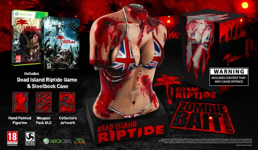 Dead Island Riptide UK CE edition features a gross, gross statue