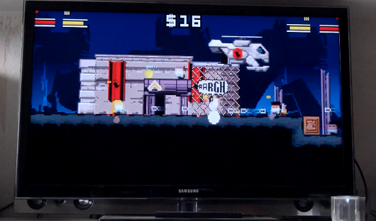 Gunslugs rampages through Ouya, gets caught on film