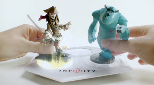 Disney Infinity powered by plastic Incredibles, Monsters, Pirates characters