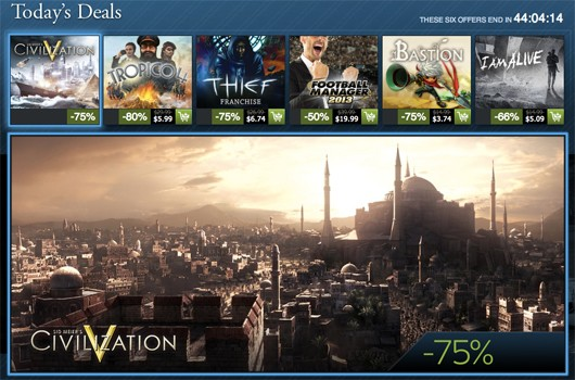 Steam Holiday Sale day 15 Thief, Civilization, Bastion