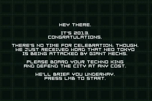 Vlambeer's free Techno King has you defend Earth with force