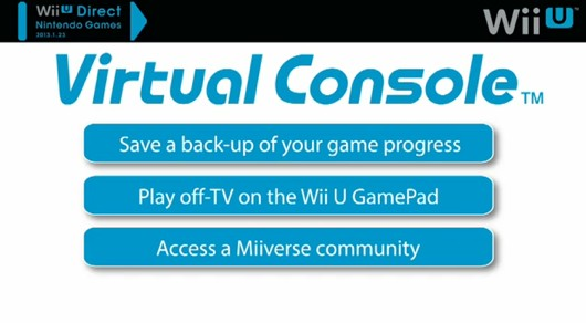 Wii U's Virtual Console appears to be a big step back
