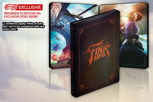 BioShock Infinite preorders in EU, AU, NZ can get Steelbook case via Gamestop