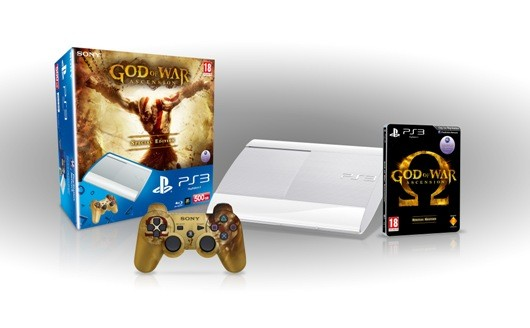 God of War Ascension white PS3 bundle unveiled for httpwwwjoystiqcom20130117classicwhiteps3instantgamecollectionbundlecomingtoameUK