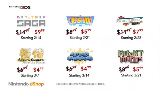 3DS eShop games on sale today including BitTrip Saga