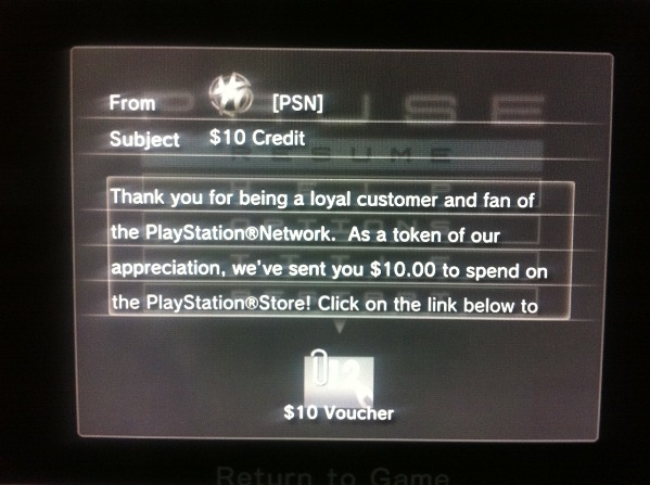 Sony is sending free PSN credit to 'loyal' customers