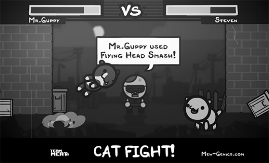Team Meat teases MewGenics cat fighting, big announcement next week