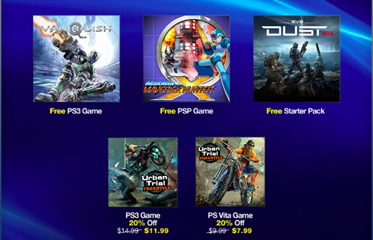 Vanquish, Mega Man Maverick Hunter X free on PlayStation Plus this week,