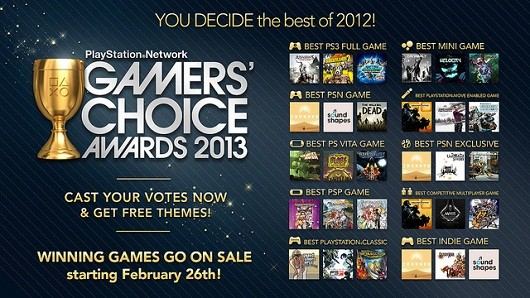 PSN Gamers' Choice Awards voting is live