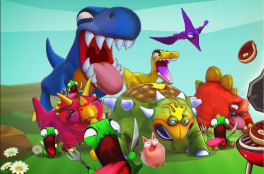 Slam Bolt Scrappers, Go Home Dinosaurs on Steam this March