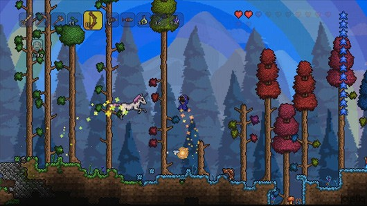Molding and shaping Terraria's world with twin thumbsticks