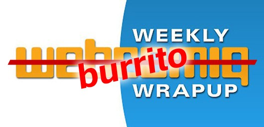 Weekly Webcomic Wrapup is eating burritos