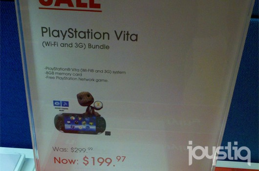 Select Sony stores selling PS Vita 3G for $  200