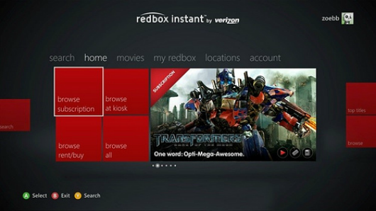 Redbox Instant, GameTrailers now on Xbox Live