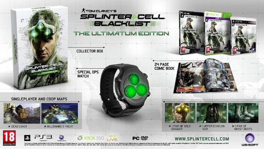 Splinter Cell Blacklist's EMEA special editions include watches, figurines, no planes