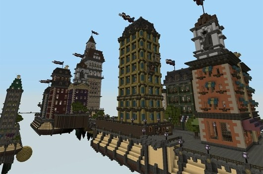 BioShock Infinite's Columbia, as built in Minecraft