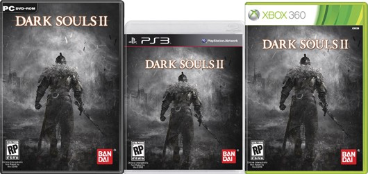Dark Souls 2's box art is many shades of grey