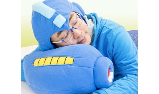 This Mega Man mega buster pillow is the coolest