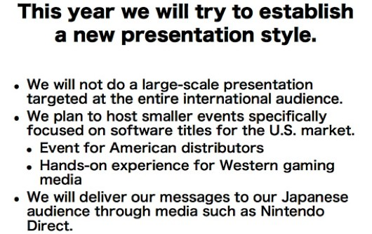 Nintendo not doing E3 press conference, holding smaller closed events instead