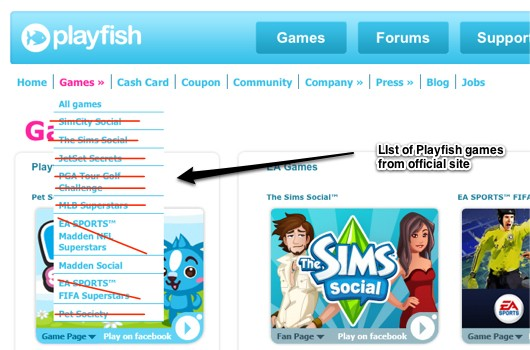 EA retiring Playfish Facebook games