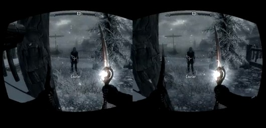 Skyrim on Oculus Rift mini