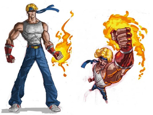 Backbonedeveloped Streets of Rage, ESWAT pitch art surfaces