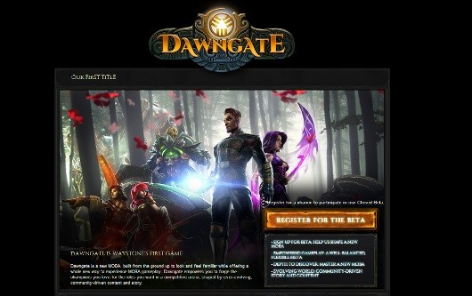Dawngate site points to new EA MOBA