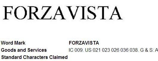 Microsoft trademarks 'Forzavista'